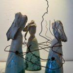 scultura ceramica maiolica CHIACCHERE
